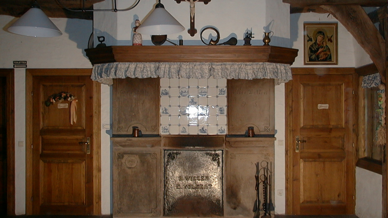 Kaminraum Diele im Heimathaus